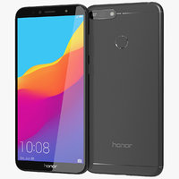 realistic honor 7a black 3D model