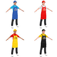 3D model pack fast food worker