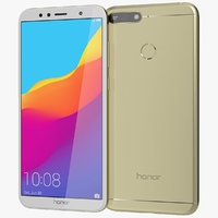 realistic honor 7a gold model