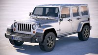 jeep wrangler golden 3D model