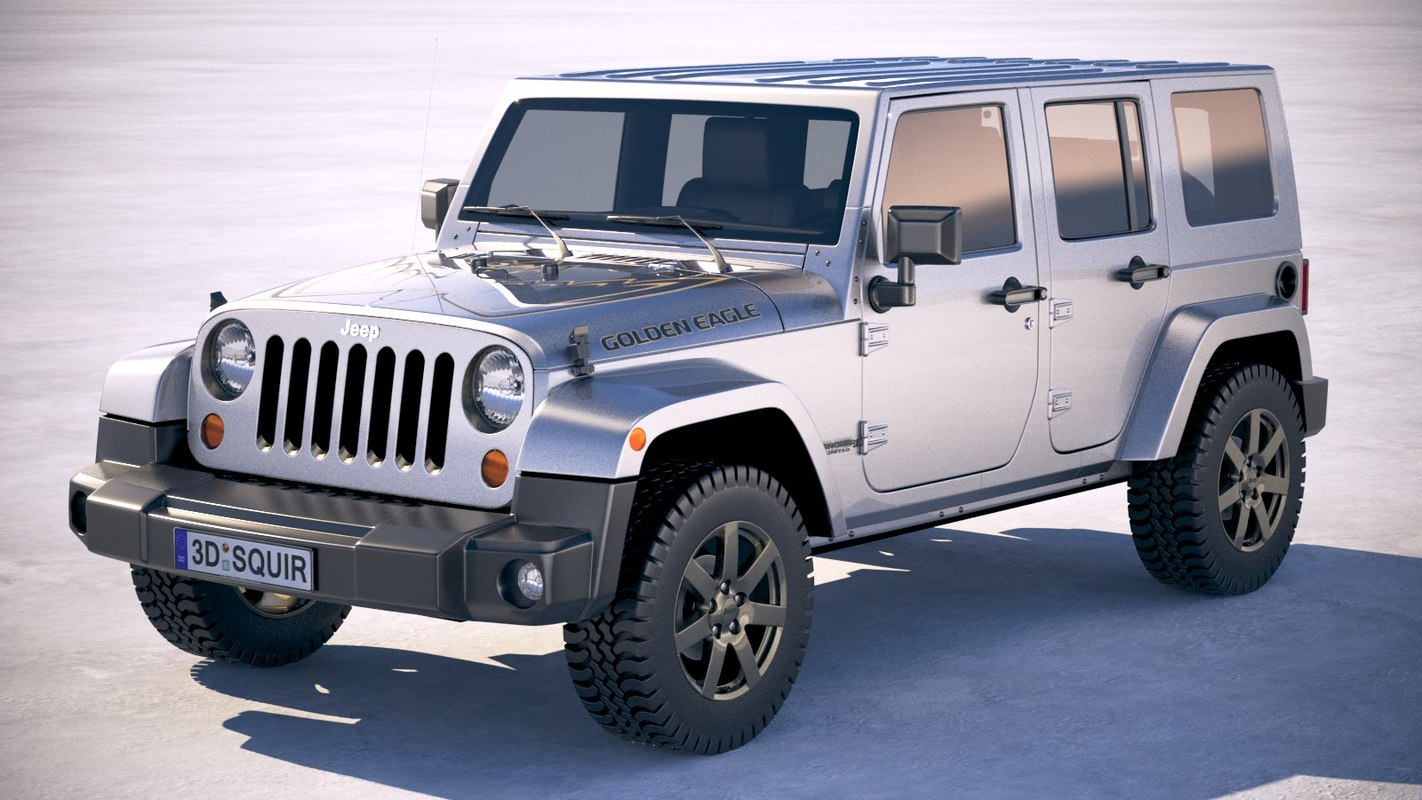 jeep wrangler golden 3D model