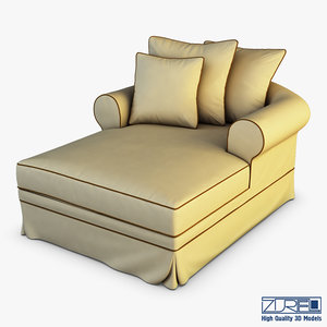 3D ampoli lounge chair model