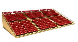 tribune stadium 3D model