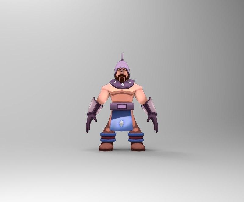 3D knight cartoon