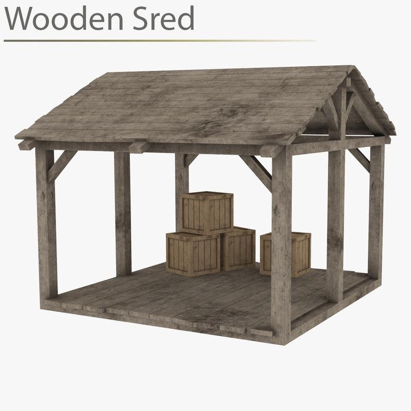 wooden sred wood 3D model