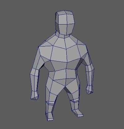 3D strong man model