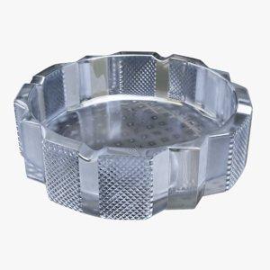3D ashtray crystal model