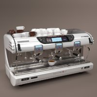La spaziale Coffee Machine White 3 group
