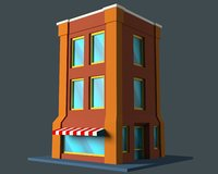 cartoon building 3D