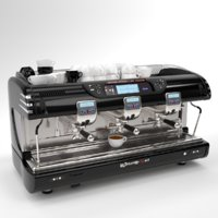La spaziale Coffee Machine Black 3 group