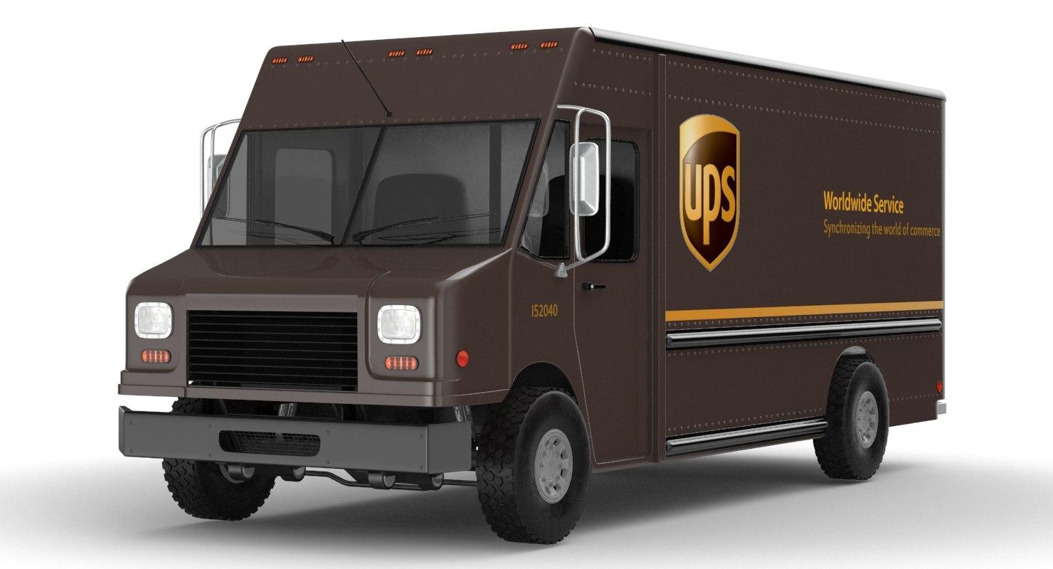 ups truck 3D