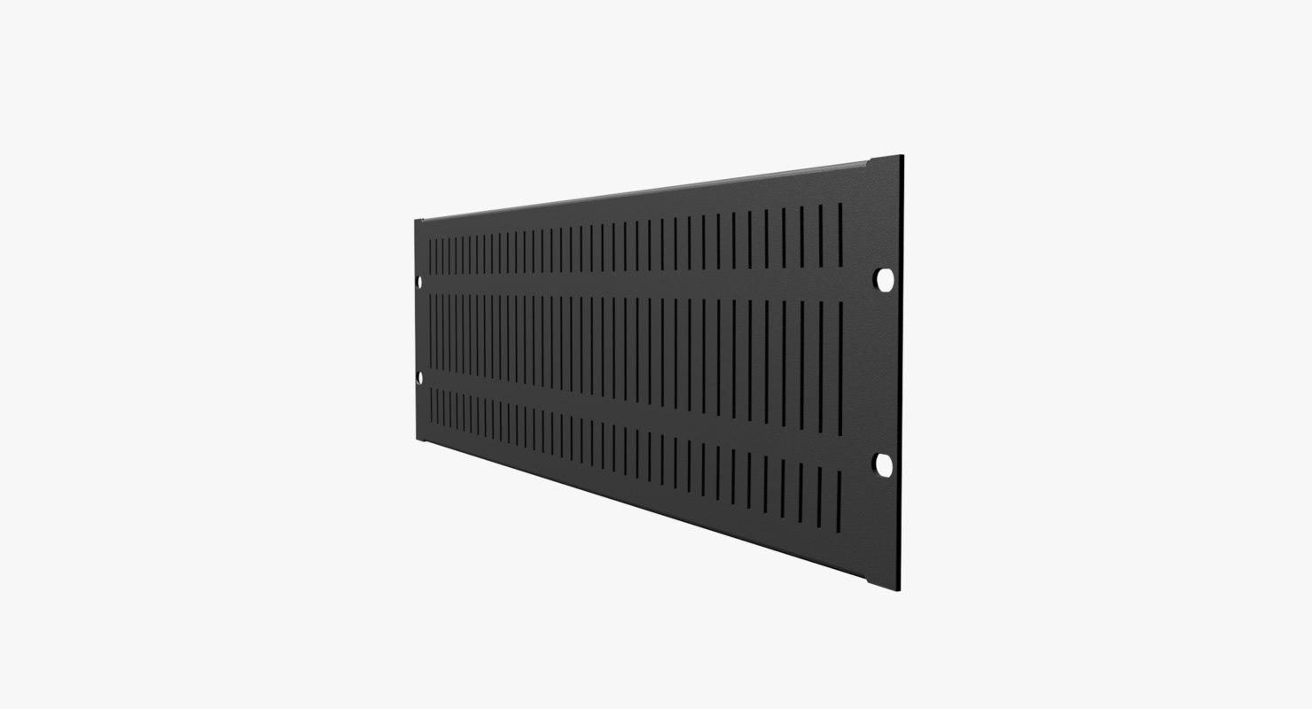 19-Inch Rack Mount Vented Panel 3U
