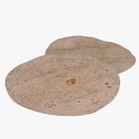 tortilla flatbread 3D model