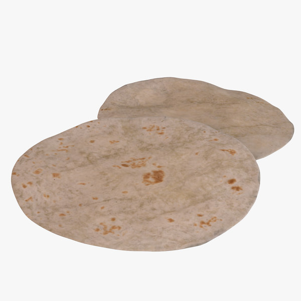 tortilla flatbread 3D model
