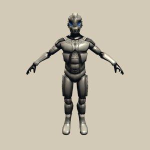 soldier cyborg suit 3D