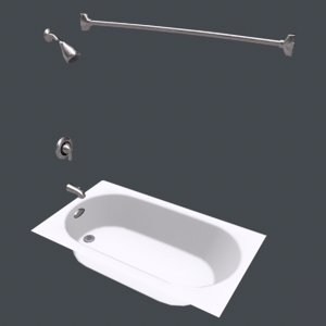 3D realtime bathtub model