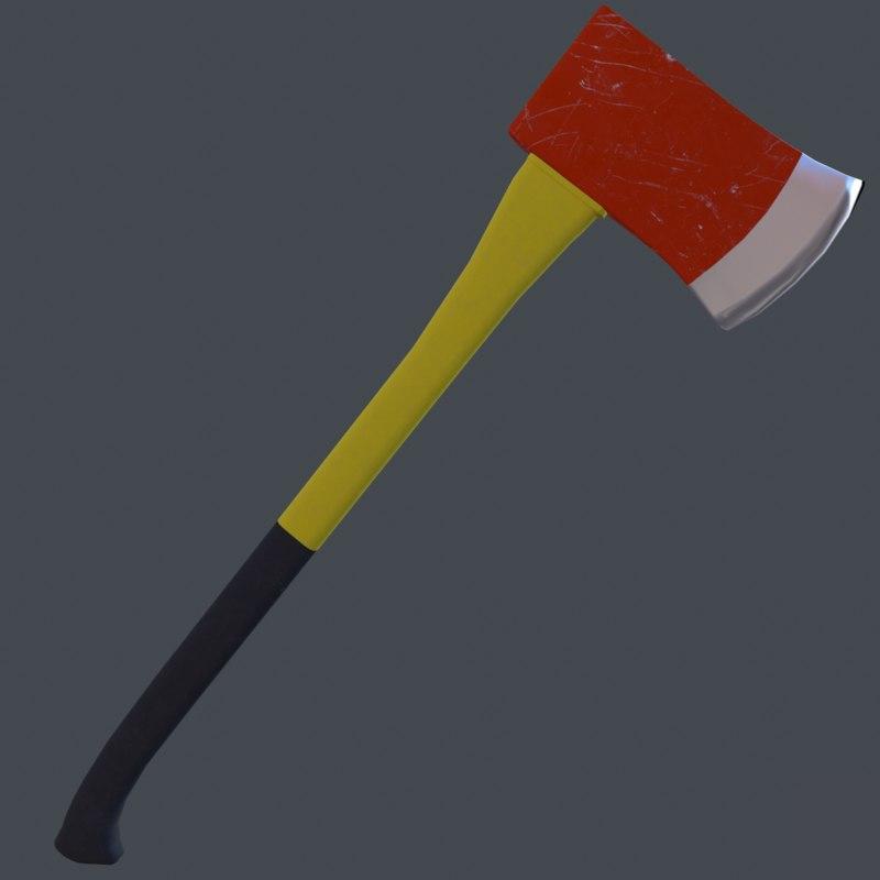 fireman s axe 3D model