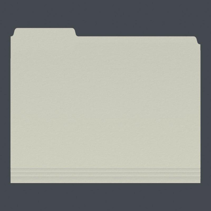manila folder 3D model