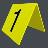 3D number placard model