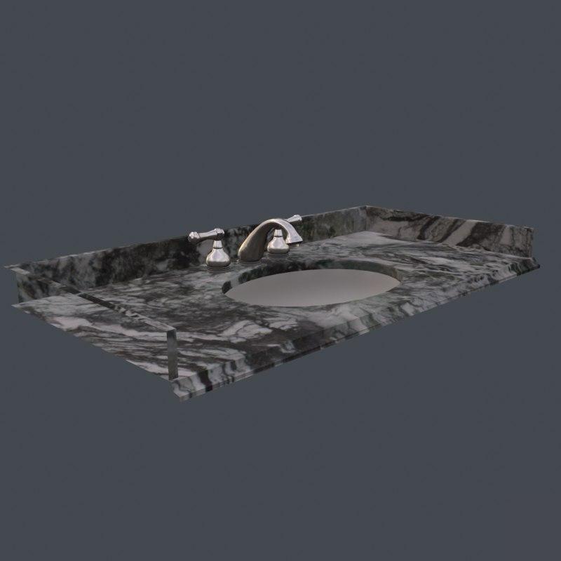3D model bathrooms sink
