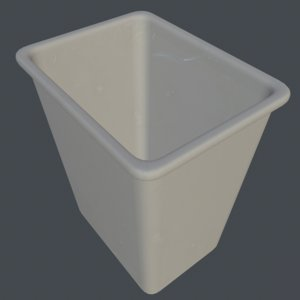 3D trash bin model