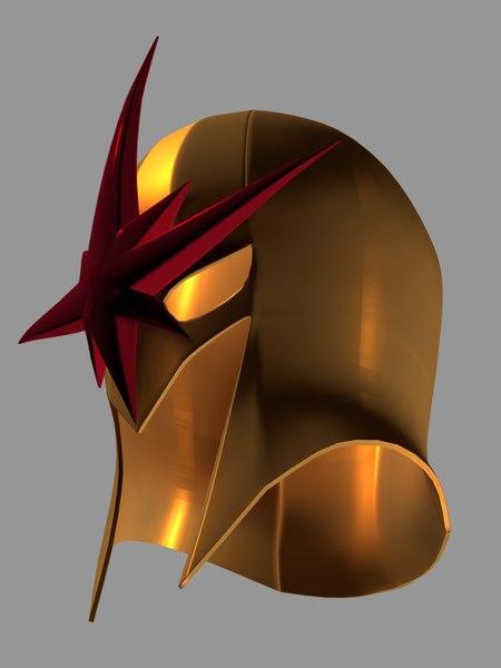 3D nova helmet marvel