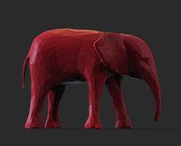 Polygonal Baby Elephant