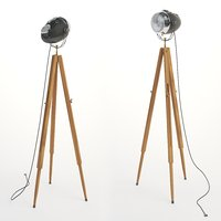 3D floor lamp motolight light