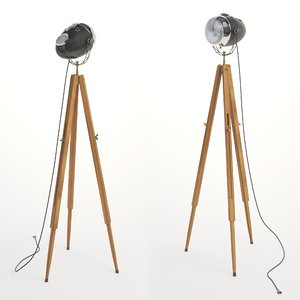 3D floor lamp motolight light