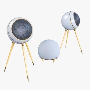 retro speakers 3D model