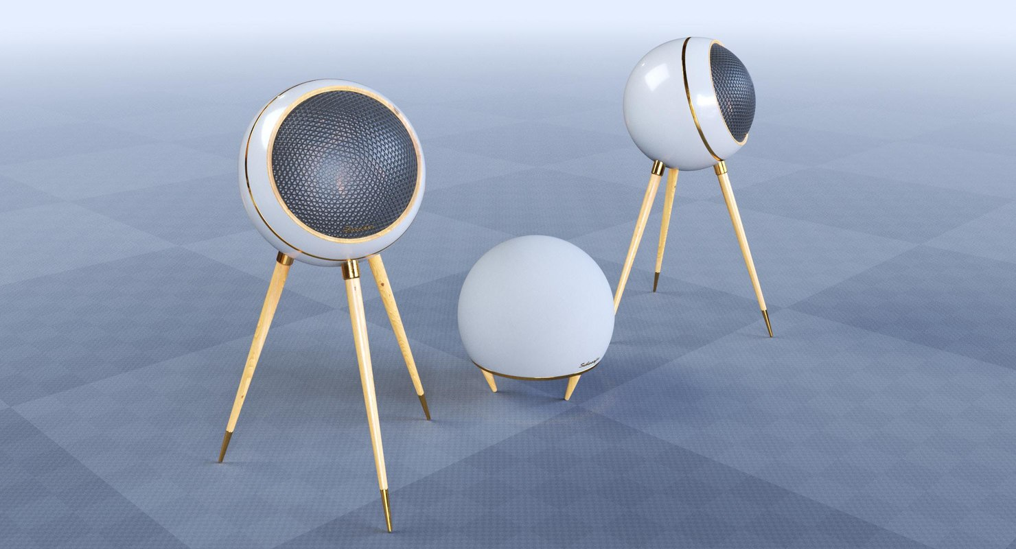 retro speakers 3D model