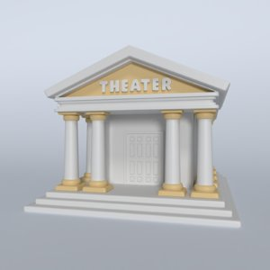 3D model cartoon theater
