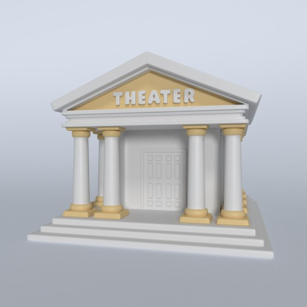 3D model cartoon theater