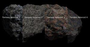 fantasy asteroid blender 3D