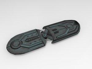 sci-fi hoverboard ar 3D model