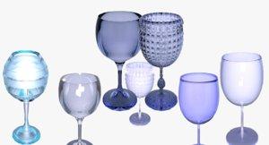 glass glassware 3D