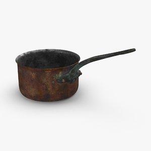 3D model classical-cookware-dirty---1 9qt-sauce-pan