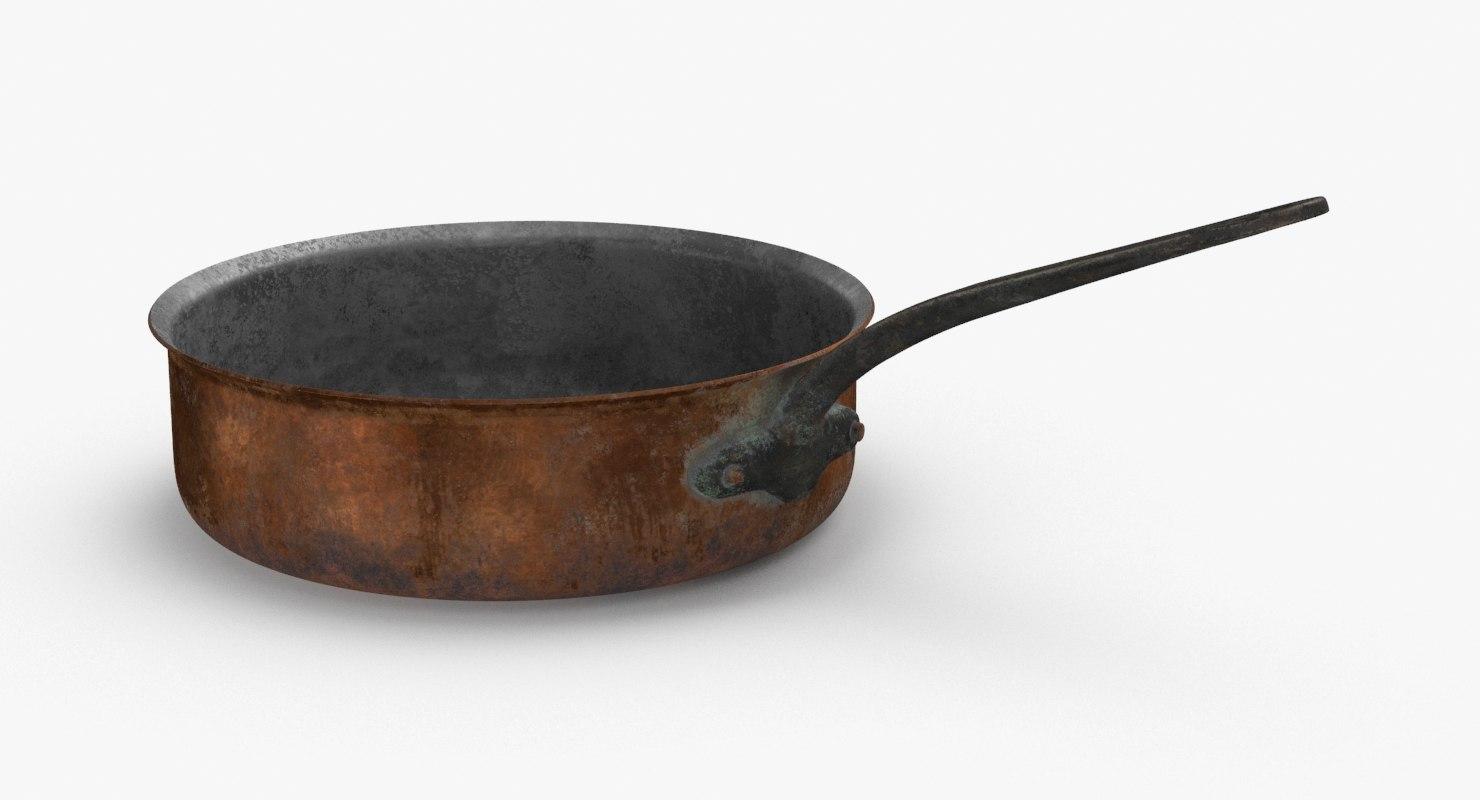 3D classical-cookware-dirty---3 5qt-saute-pan model