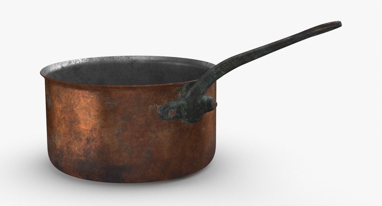 classical-cookware-dirty---3 5qt-sauce-pan 3D