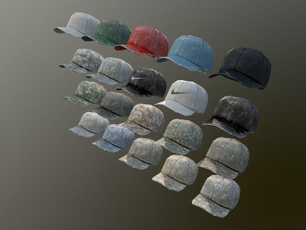 caps pack 1 3D model