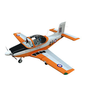 3D ct4a airforce trainer aircraft plane model