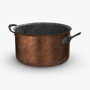 3D classical-cookware-dirty---5 9qt-stock-pot