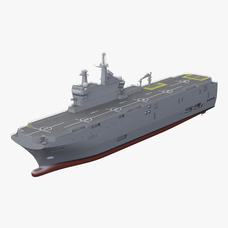 mistral class assault ship model