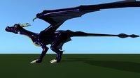 3D dragon animations model