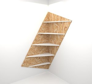 design bookshelf interior 3D model