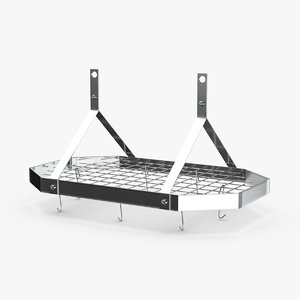 3D model kitchen-pan-rack-02---rack