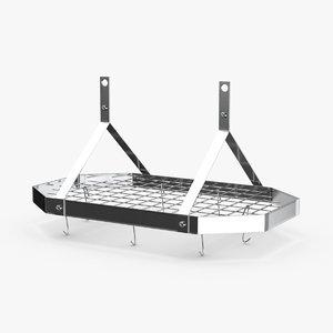 3D model kitchen-pan-rack-02---rack