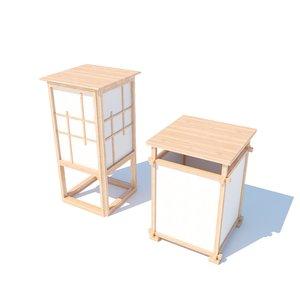 japanese floor lamps 3D model