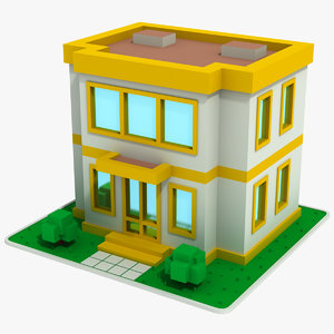 cartoon house 10 model