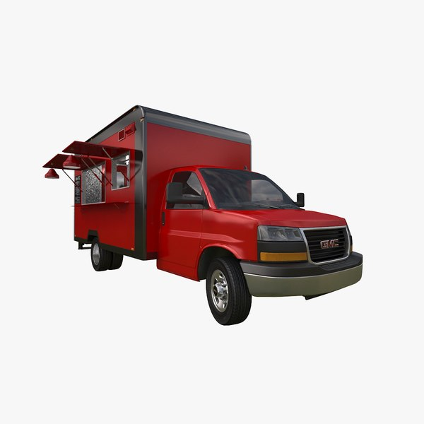 3D gmc savana food truck